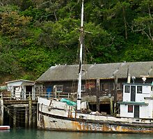 Old Fishing boat at Fort Bragg by Bruce Alexander