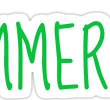 summer.  Sticker