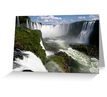 Iguaçu Falls Rainbow Brazil Greeting Card