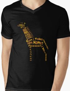 OMG A GIRAFFE! Mens V-Neck T-Shirt