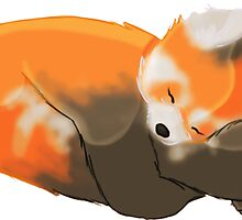 Sleeping Cuties- Red Panda by onthemeander