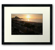 Copacabana Sunrise, Rio de Janeiro Brazil Framed Print