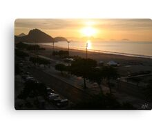 Copacabana Sunrise, Rio de Janeiro Brazil Canvas Print