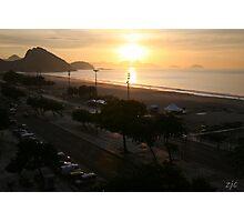 Copacabana Sunrise, Rio de Janeiro Brazil Photographic Print