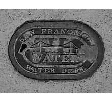 San Francisco Water Dept Street Cover Photographic Print