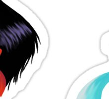 Sailor Mars and Sailor Mecury Sticker
