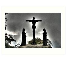 Monserrate Christ, Bogota, Colombia  Art Print