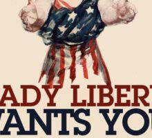 Lady Liberty ZOMBIE Sticker