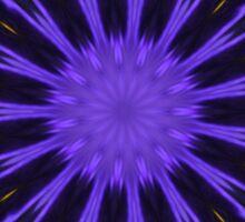 Purple Pansy Star Graphic Art Sticker