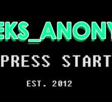 Geeks Anon Sticker