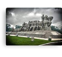 Monumento as Bandeiras Canvas Print