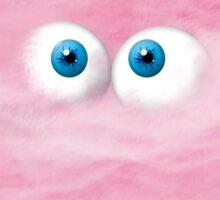 Fuzzy Pink Sticker