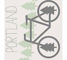 Portland - PDX - City of Trees and Bicycles by CorrieJacobs
