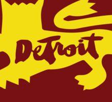 Detroit City Rouge Lion : Sticker Only Sticker