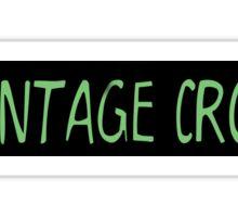 Vintage Crop Logo Sticker