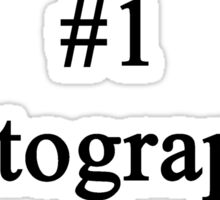 #1 Photographer  Sticker