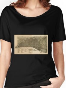 Panoramic Maps Philadelphia in 1888 Women's Relaxed Fit T-Shirt