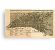 Panoramic Maps Philadelphia in 1888 Canvas Print