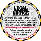 Sticker for your car - No more parking tickets by djhypnotixx