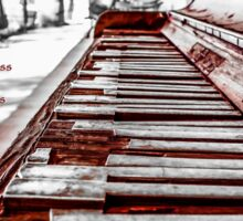 Broken Piano Red Sticker