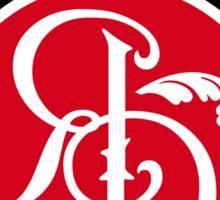 Red Dusk logo sticker burgandy Sticker