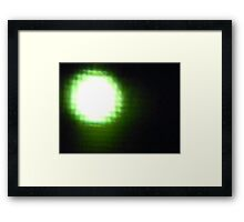 Fade to Green....Cheese?...the Moon Framed Print