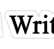 #1 Writer Sticker