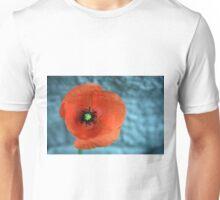Poppy on Blue Unisex T-Shirt