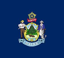 Maine State Flag T-Shirt Portland Car Sticker Duvet Cover by deanworld