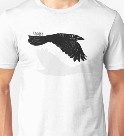 Huginn and Muninn [with runes] Unisex T-Shirt