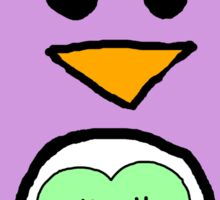 Pastel Penguin Sticker