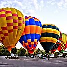 Hot Air Balloons by Kym Bradley