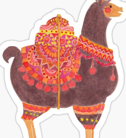 The Lovely Llama Sticker