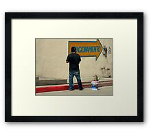 Mexican Curb Painter Framed Print