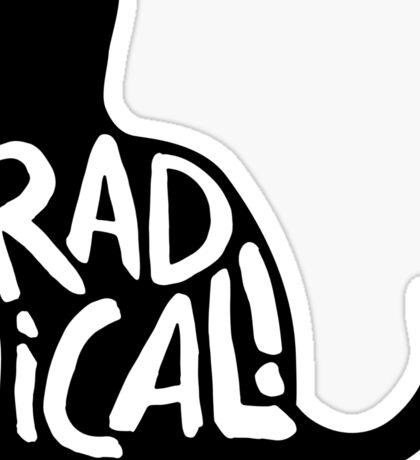 Radical Cat Sticker