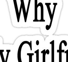 If I'm So Dumb Why Is My Girlfriend A Trucker?  Sticker