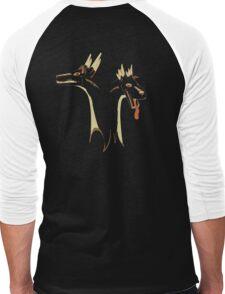 2 headed Stag Dragon Men's Baseball ¾ T-Shirt