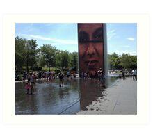 Crown Fountain - Chicago. Summer 2012 Art Print