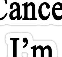 I Laugh At Cancer I'm A Drummer  Sticker