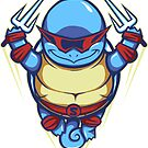Ninja Squirtle - Sticker by TrulyEpic