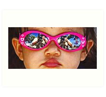 Pink Sunglasses Art Print