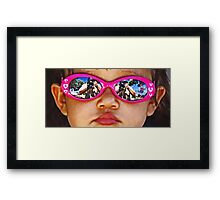 Pink Sunglasses Framed Print