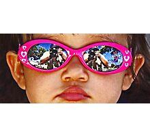 Pink Sunglasses Photographic Print
