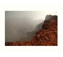 The Red Crater, Mt Ngauruhoe Art Print