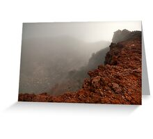 The Red Crater, Mt Ngauruhoe Greeting Card