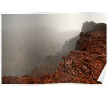 The Red Crater, Mt Ngauruhoe Poster