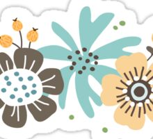 Flower ornament sticker Sticker