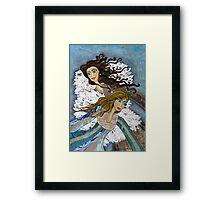 Angels Watching Us Framed Print
