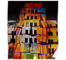 Crumbling Blocks Poster