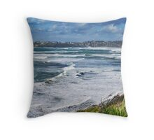 Rough seas from Long Reef lookout Throw Pillow
